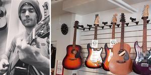 Pär Fransson väcker liv i musikbutiken på Järntorgsgatan - igen. I januari öppnar den.