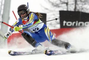 Rättvikstjejen Therese Borsén under vinter-OS i Turin 2006. Foto: Kevin Frayer/AP
