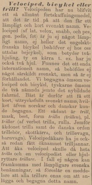 ÖP, 21 augusti 1899.