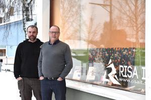 Lars Olof Olsson, ägare av Risa IT, samt Peter Lekskog, marknadsförare för Orsa lokaler AB.
