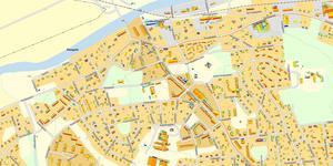 Solkartan visar var solpaneler fungerar bäst, och man kan också klicka fram information om varje hus. Karta: Kungsörs kommun