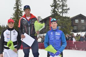 Max Novak, Oskar Kardin och Fredrik Andersson firade på pallen.