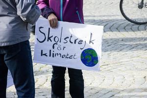 I september skolstrejkade elever för klimatet.