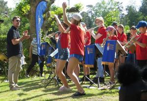 Kulturskolans blåsorkestrar uppträdde. Foto: Lena Håkansson