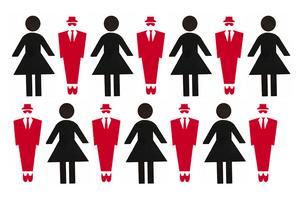 I ledningsgrupperna hos Stockholmsbörsens större fastighetsbolag är kvinnorna i det närmaste lika många som männen. Grafik: Tomas Karlsson