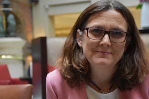 – Stödet för EU bland vanliga medborgare är högre än på många, många år, säger Cecilia Malmström, EU-kommissionär med ansvar för handel.