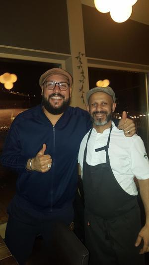 Abdelkader träffade på artisten Khaliffa på restaurangen i Sälen.