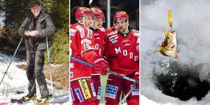 Pimpelfiske istället för hockeymatch, det tycker i alla fall Bredbybon Thomas Olsson. Foto: Bildbyrån/TT/Privat