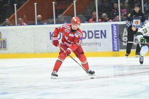 Sebastian Walfridssons trodde att han hade gjort sitt första a-lagsmål i derbyt mot Björklöven, men fick det bortdömt.