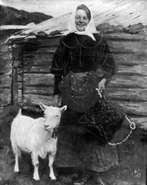 Beda Eklund, 15-årig butös i Sandviksdalen 1905.