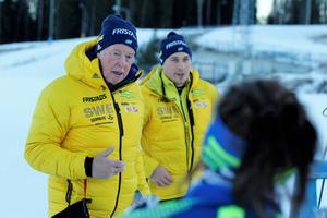 Förbundskaptenen Wolfgang Pichler, till vänster. Bild: Håkan Blidberg.