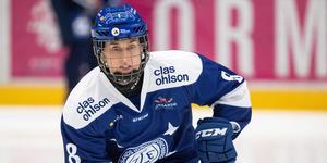 Samantha Hanson gjorde Leksands enda mål Luleå. Foto: Daniel Eriksson/Bildbyrån