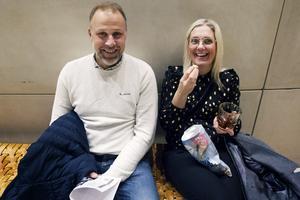 Syskonen Thomas Andersson och Cecilia Holmkvist från Skutskär