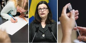 Utbildningsminister Anna Ekström (S) har kallat till en pressträff tillsammans med FHM angående vaccination.