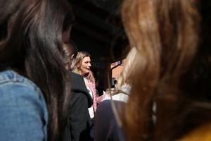 Eleverna krävde svar av politiker Rose-Mari Bogg.
