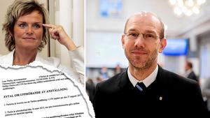 Lena Thelin spelade in samtal med tidigare regiondirektören. Nu anlitas en extern jurist som ska titta närmare på innehållet, menar nuvarande regiondirektören Hans Wiklund.