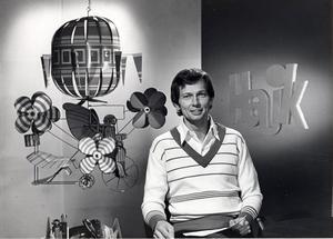 Bild från 1978. Bengt Alsterlind i Hajk-studion.