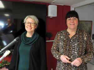 Anna-Karin Linder och Anna Frost Lönn stod för underhållningen. Foto: Walters Börje Edenius
