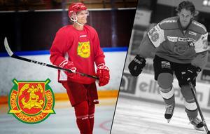Tio år mellan bilderna. Till vänster ser ni Adam Masuhr från 2018 och till höger från säsongsuppstarten 2008. Då hette han Adam Andersson.