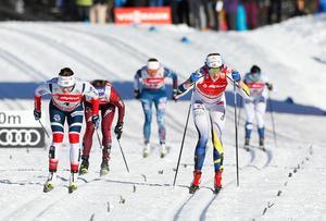 Stina Nilsson under en tidigare världscuptävling.