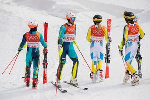 Samma lag som fick se sig besegrade under OS får revansch under lagtävlingarna under världscupen i Åre på fredagen. Bild: Petter Arvidson/Bildbyrån