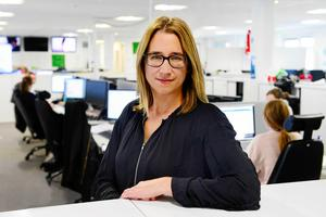 Chefredaktören för de tre tidningarna, Karin Näslund, är glad över de nya upplagesiffrorna.