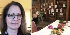 Charlotte Wells är ordförande i Folkare konstförening. Bild: montage/privat