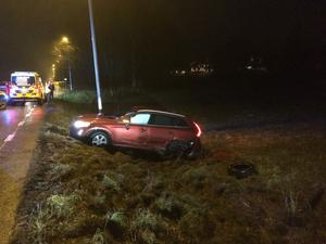 En av bilarna i olyckan.