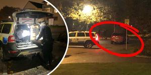 Polisen har gjort intressanta fynd efter skottlossningen i Tybble, och beslagtagit den röda bil som man tror att gärningspersonerna åkte i den korta sträckan mellan Tybble centrum och Hemmansvägen vid Sörbyskolan.