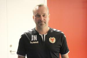 Kalmars nytillsatte tränare Jens Nilsson inför kvalmatcherna mot Brage: