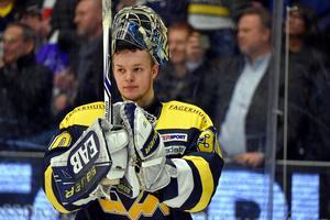 Linus Söderström stod alla matcher i slutspelet när HV71 vann SM-guld säsongen 16/17.