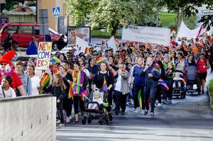 Prideparad den 25 augusti 2018 under  Örebro Pride.
