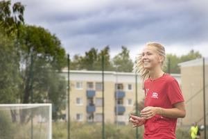 Sara Wexén går på fotbollsgymnasiet i Sundsvall.