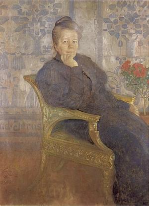 Selma Lagerlöf 1908. Målning av Carl Larsson.