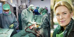 Bild från en hjärtoperation. Kristina Sparreljung, generalsekreterare för hjärt-lungfonden. Foto: Hjärt-Lungfonden/Anna Molander