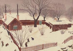 Oskar Bergmans skildring av Vita bergen i Stockholm.