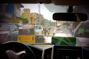 Under veckan hann Tjabo och de övriga i kvartetten se sig om en del i Monrovia. Foto: Privat.
