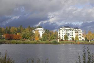 Bilden är tagen fredag den 9 oktober från Långnäs mot Sundsbro i Bollnäs