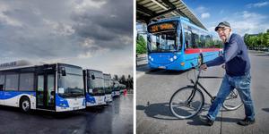 Jan Gunnarsson har reagerat på att man inte kan ta med cykeln på de nya länsbussarna.