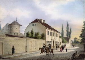 Immanuel Kants hem i Königsberg. Målning av Friedrich Heinrich Bils från 1842.