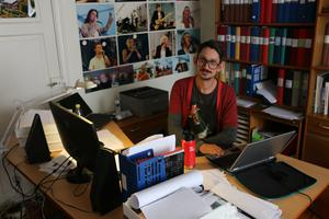 Petter Findin har, lika som Åke Björänge, kontor på Jazzhusets övervåning. Han oroar sig också starkt för husets framtid samt möjligheterna för hur planeringsarbetet av Bangen ska kunna hålla samma kvalité om festivalen inte får ha kvar sina kontorslokaler.