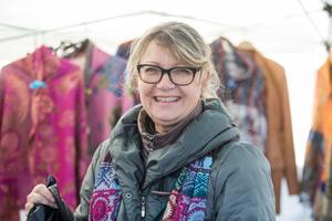 Anneli från Skärholmen sålde kläder av alpaca.