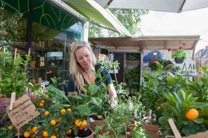 Veronica Bennerman på Linneans blomsterbutik ska sälja delar av verksamheten.