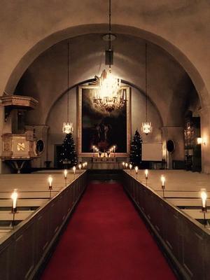 Ljuset kommer att stå i centrum både när det gäller syn- och hörselintryck i Gustafs kyrka under söndagen när kyrkomusikens dag firas.Foto: Daniel Larsson