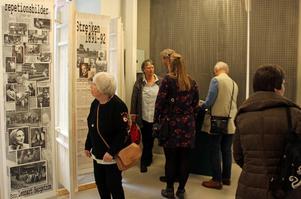 Många Norbergare som var med under spelen i Norberg kom till invigningen av utställningen på Länsmuseet.