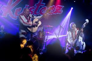 Det populära dansbandet Larz-Kristerz, från Älvdalen, spelar upp till dans på Å-festen i Falun i juni.