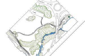 En ny handikappanpassad väg ska dras från Fagerdalsparken, under bron och fram till parkeringen och nuvarande springspår vid Sidsjön.