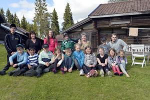 Ena gruppen barn (av två) som var med på kollot år 2015.