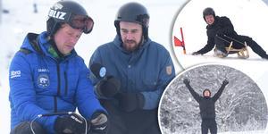 Niklas Bentzer visade alpinrodel för Adam Johansson och Lukas Sahlin.
