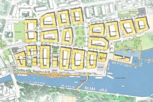 Samtliga kvarter har fått namn med historisk koppling till hamnen. Gatorna har marint tema och de två torgen, Sjötullstorget och Hamnplan, har fått sina namn givet av platsen de ligger på. (Namn i kursiv stil är ännu ej beslutade)